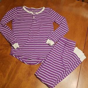 Crewcuts purple white striped pajamas